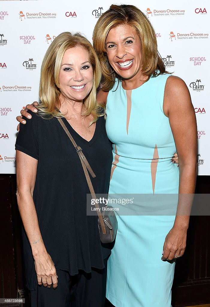 Kathie Lee Gifford (L) and Hoda Kotb attend CAA Foundation's School Day event benefiting donorschoose.org at The Palm One on September 18, 2014 in New York City.