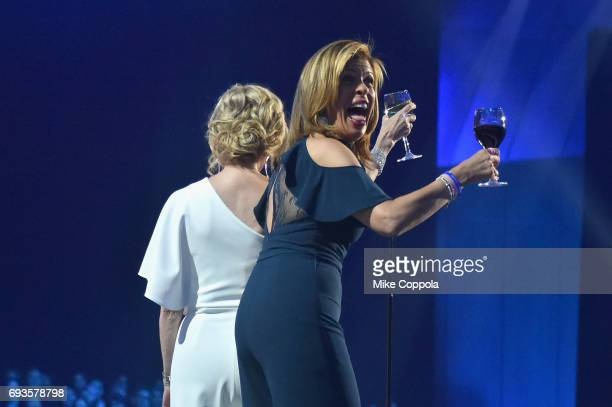 Kathie Lee Gifford and Hoda Kotb speak onstage during the 2017 CMT Music Awards at the Music City Center on June 6 2017 in Nashville Tennessee