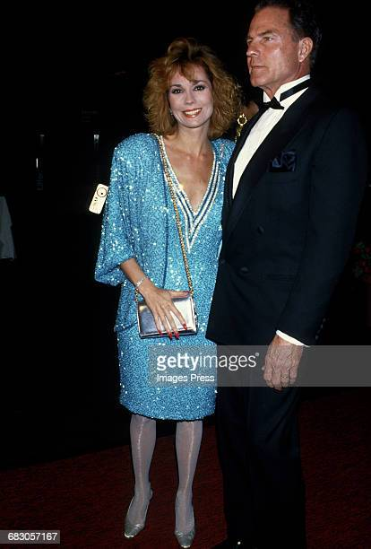 Kathie Lee Gifford and husband Frank Gifford attend the Moda Italia Gala promoting Italian trade circa 1989 in New York City