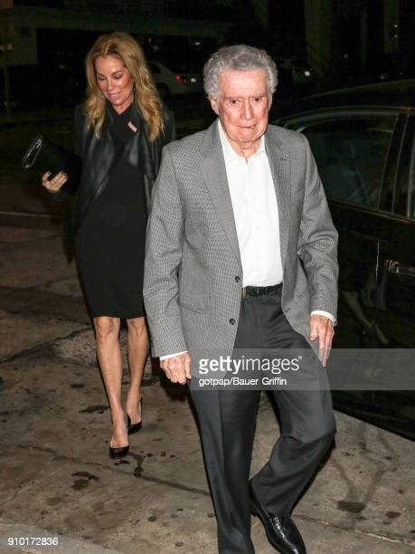 Kathie Lee Gifford and Regis Philbin are seen on January 24 2018 in Los Angeles California