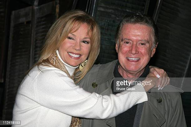 Kathie Lee Gifford and Regis Philbin during Regis and Kathie Lee Reunion at Under the Bridge at The Zipper Theater in New York City New York United...