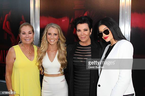 Kathie Lee Gifford Cassidy Gifford Kris Jenner and Kylie Jenner attend New Line Cinema's Premiere Of The Gallows at Hollywood High School on July 7...