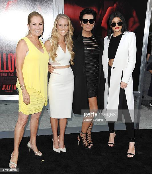 Kathie Lee Gifford Cassidy Gifford Kris Jenner and Kylie Jenner attend the premiere of The Gallows at Hollywood High School on July 7 2015 in Los...
