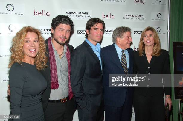 Kathie Lee Gifford director Alejandro Monteverde actor/producer Eduardo Verastegui singer Tony Bennett and wife Susan Crow arrive to People En...
