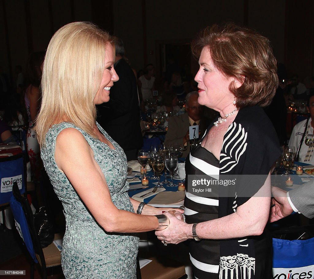 Kathie Lee Gifford greets VOICES of September 11th founding director Mary Fetchet at the 5th Annual Always Remember Gala at Pier Sixty at Chelsea Piers on June 20, 2012 in New York City.
