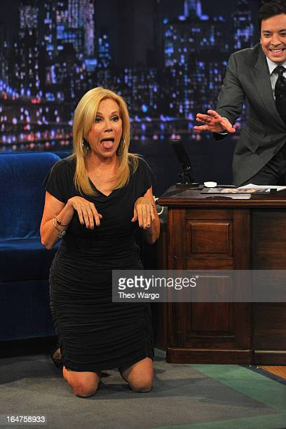 Kathie Lee Gifford visits Late Night With Jimmy Fallon at Rockefeller Center on March 27 2013 in New York City