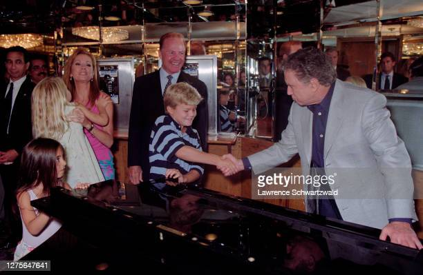 Kathie Lee Gifford with husband Frank son Cody daughter Cassidy and Regis Philbin at Kathie's retirement/goodbye party at Tavern On the Green in...