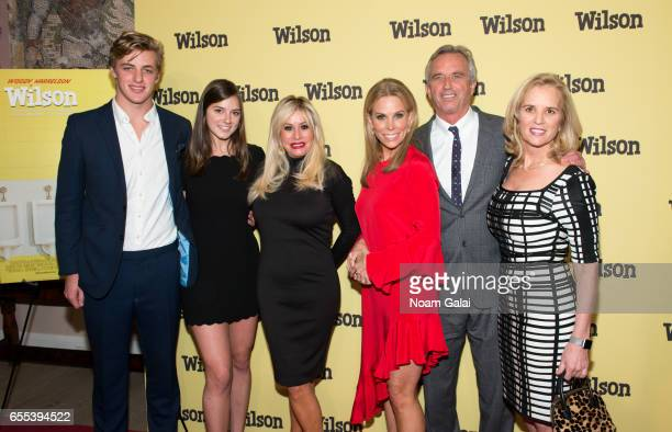 Kathleen Alexandra Kennedy Cheryl Hines Robert F Kennedy Jr and Kerry Kennedy attend the 'Wilson' New York screening at the Whitby Hotel on March 19...