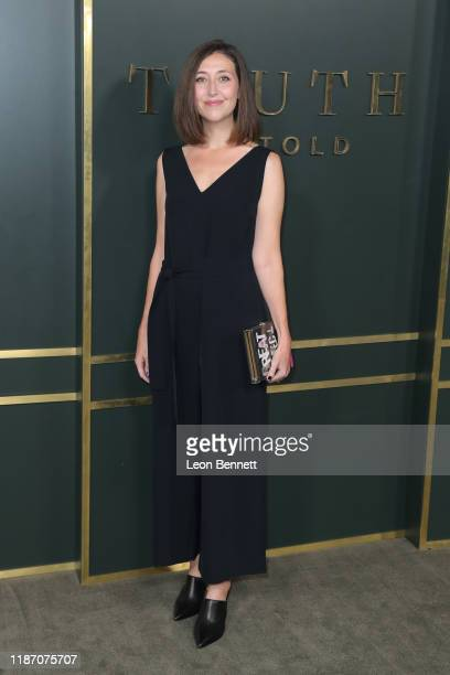Kathleen Barber attends Premiere Of Apple TV's Truth Be Told at AMPAS Samuel Goldwyn Theater on November 11 2019 in Beverly Hills California