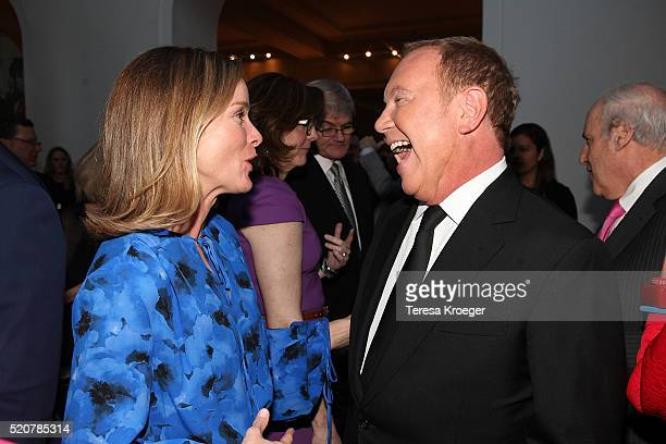 Kathleen Biden and designer Michael Kors attend the World Food Program USA's Annual McGovernDole Leadership Award Ceremony at Organization of...