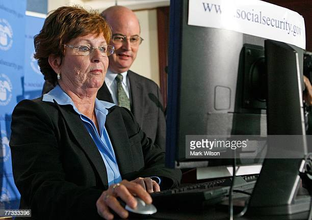 Kathleen Casey-Kirschling files for her Social Security retirement benefits online as Michael Astrue commissioner of the Social Security...