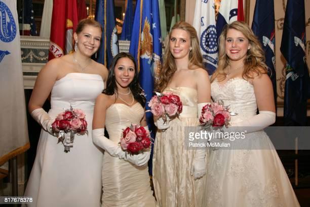 Kathleen Cummings DeMarse Katherine Truglio Hadley Nagel and Grace Quick attend THE 56TH INTERNATIONAL DEBUTANTE BALL at Waldorf Astoria on December...