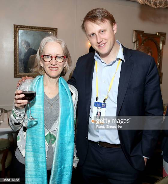 Kathleen deLaski and reporter Daniel Lippman attend GLG Social Impact Dinner At Milken at Cecconi's on April 30 2018 in West Hollywood California