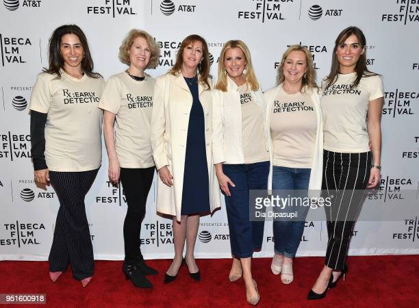 Kathleen Finch Sandra Lee Jane Rosenthal Kimber Lee and Mariah Kennedy Cuomo pose at a screening of RX Early Detection A Cancer Journey With Sandra...