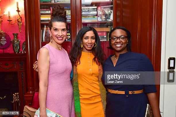 Kathleen Giordano Dawne Marie Grannum and Kenita Lloyd attend Martin and Jean Shafiroff Host Thanksgiving Cocktails for NYC Mission Society at...