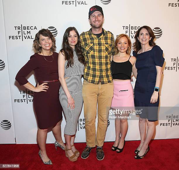 Kathleen Grace Lacey Friedman Evan Beamer Lisa Schwartz and Kendra Johnson attend Tribeca Digital Creators Market Screening Party Girl at Spring...