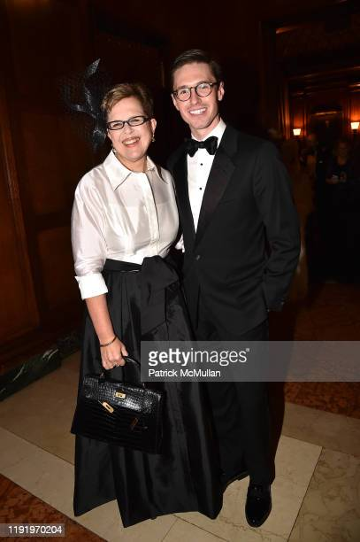 Kathleen Guzman and Andrew Nodell attend French Heritage Society's New York Gala The Black White Ball at Private Club on November 21 2019 in New York...