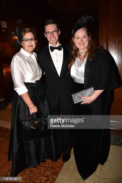 Kathleen Guzman Andrew Nodell and Valerie Lettan attend French Heritage Society's New York Gala The Black White Ball at Private Club on November 21...