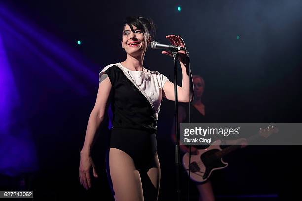 Kathleen Hanna of the Julie Ruin performs at KOKO on December 2 2016 in London England