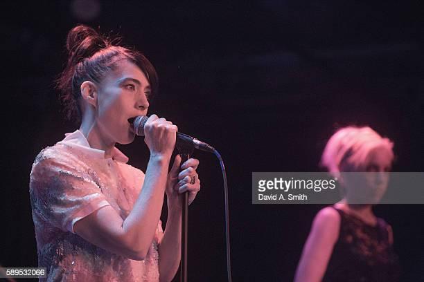 Kathleen Hanna of The Julie Ruin performs at Saturn Birmingham on August 14 2016 in Birmingham Alabama