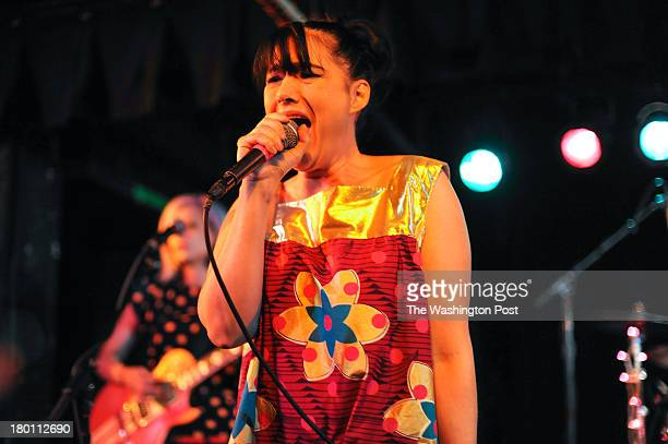 Kathleen Hanna of The Julie Ruin performs at the Black Cat on 14th St in Northwest Washington September 2013 in Washington DC