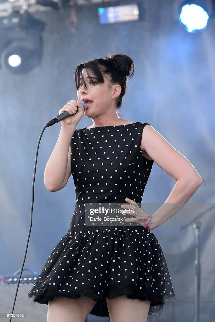 Kathleen Hanna of The Julie Ruin performs during Pitchfork Music Festival 2015 at Union Park on July 19, 2015 in Chicago, United States.