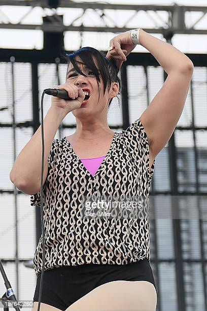 Kathleen Hanna of The Julie Ruin performs in concert during the final day of Fun Fun Fun Fest at Auditorium Shores on November 10 2013 in Austin Texas