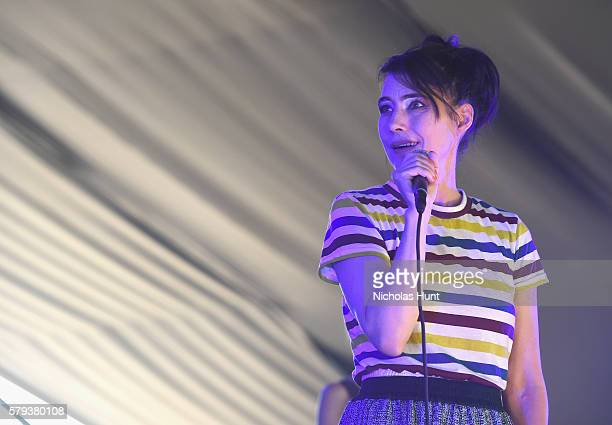 Kathleen Hanna of The Julie Ruin performs onstage at the 2016 Panorama NYC Festival Day 2 at Randall's Island on July 23 2016 in New York City