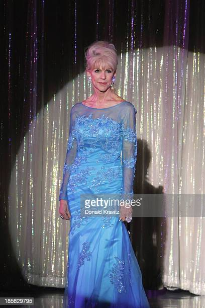 Kathleen 'Kat' Ray MsNevada in evening gown as she attends the Ms Senior America 2013 pageant at Resorts Superstar Theater on October 24 2013 in...