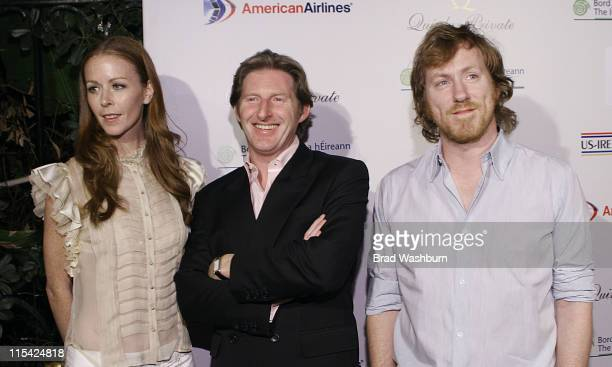 Kathleen Kennedy Adrian Dunbar David Holmes during USIreland Alliance PreOscar Event To Honor Neil Jordan Jim Sheridan and David Holmes at The Ebell...