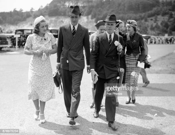 Kathleen Kennedy at Goodwood races with William Cavendish Marquis of Hartington July 1938