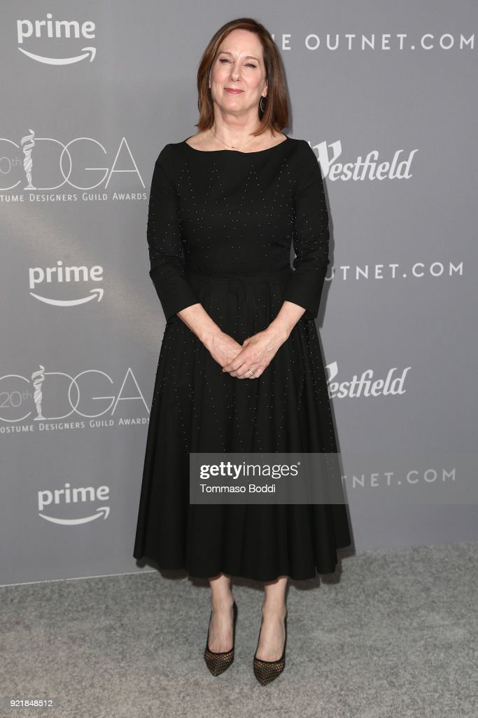 Kathleen Kennedy attends the 20th CDGA (Costume Designers Guild Awards) on February 20, 2018 in Beverly Hills, California.