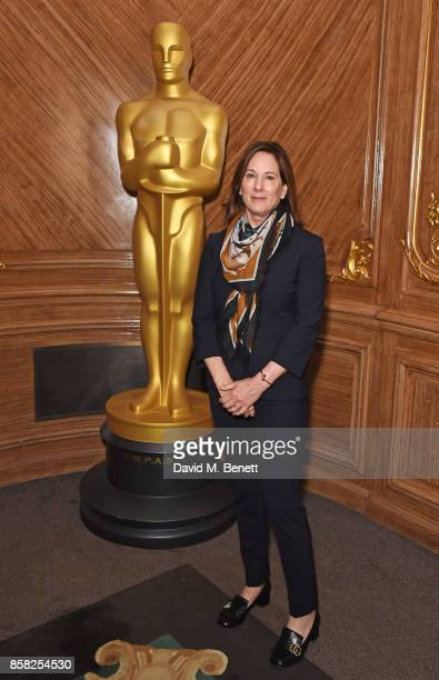 Kathleen Kennedy attends the Academy of Motion Picture Arts and Sciences Women In Film lunch at Claridge's Hotel on October 6 2017 in London England