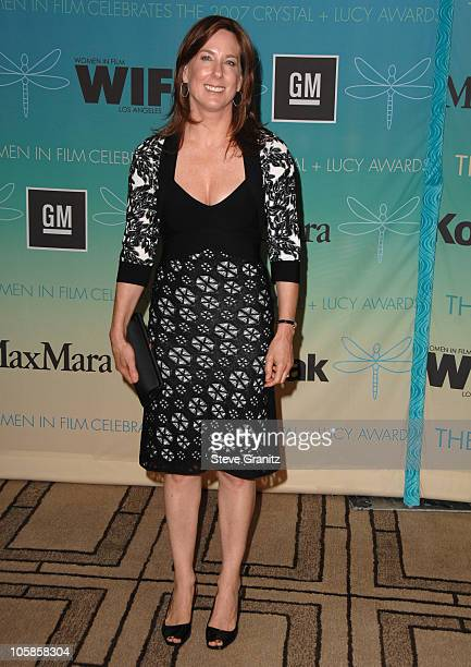 Kathleen Kennedy during 2007 Women In Film Crystal Lucy Awards Arrivals at Beverly Hilton in Beverly Hills California United States