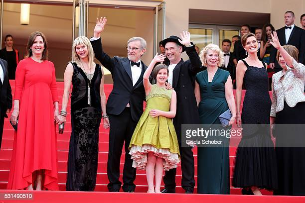 Kathleen Kennedy Kate Capshaw Steven Spielberg Ruby Barnhill Mark Rylance Claire van Kampen Lucy Dahl and Penelope Wilton attend The BFG premiere...
