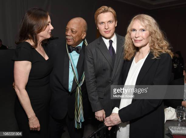 Kathleen Kennedy Quincy Jones Ronan Farrow and Mia Farrow attend ELLE's 25th Annual Women In Hollywood Celebration presented by L'Oreal Paris Hearts...