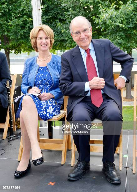 Kathleen Kennedy Townsend and George J Mitchell attend the Franklin D Roosevelt Four Freedoms Park's gala honoring Founder Ambassador William J...