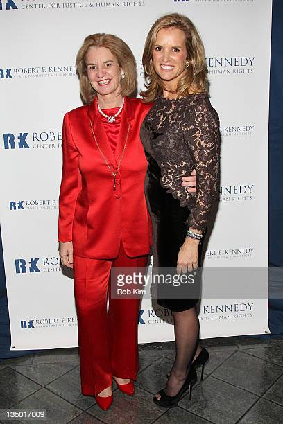 Kathleen Kennedy Townsend and Kerry Kennedy attend the Robert F Kennedy Center for Justice and Human Rights 2011 Ripple of Hope Awards dinner at Pier...