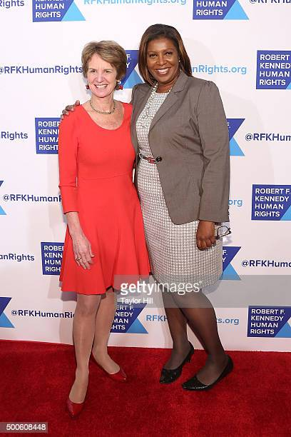 Kathleen Kennedy Townsend and Letitia James attends as Robert F. Kennedy Human Rights hosts The 2015 Ripple Of Hope Awards honoring Congressman John...