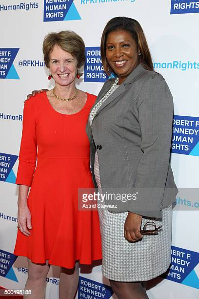 Kathleen Kennedy Townsend and New York City Public Advocate Letitia James attend as Robert F Kennedy Human Rights hosts The 2015 Ripple Of Hope...