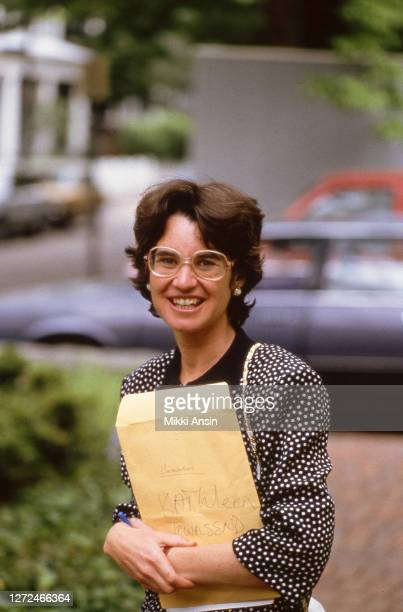 Kathleen Kennedy Townsend campaigns for Gary Hart at the home of Laurence Tribe, a legal scholar and professor at Harvard University in Cambridge, MA...