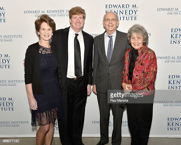 Kathleen Kennedy Townsend, Patrick Kennedy, Supreme Court Justice Stephen Breyer and Dr. Joanna Breyer attend the Edward M. Kennedy Institute for the...