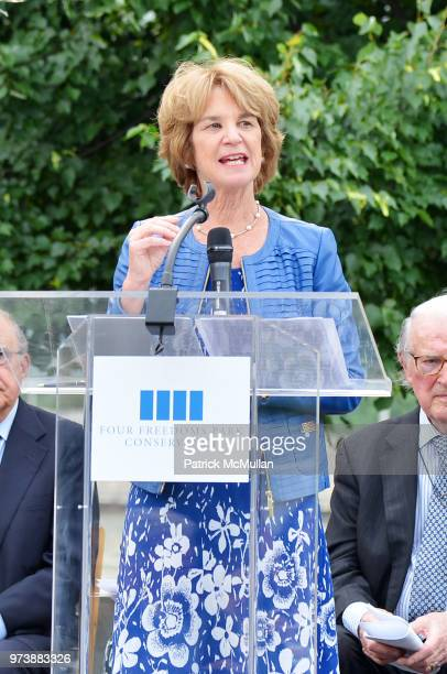 Kathleen Kennedy Townsend speaks onstage during the Franklin D Roosevelt Four Freedoms Park's gala honoring Founder Ambassador William J Vanden...