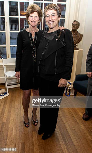 Kathleen King and LIz Abzug attend the 6th Annual Bella And Bella Fella Awards at Roosevelt House Public Policy on April 16 2014 in New York City