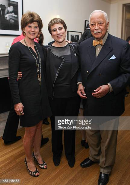 Kathleen King LIz Abzug and David Dinkins attend the 6th Annual Bella And Bella Fella Awards at Roosevelt House Public Policy on April 16 2014 in New...