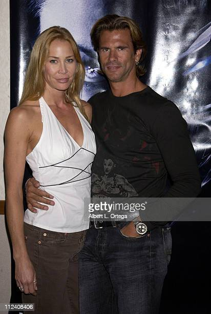 Kathleen Kinmont and Lorenzo Lamas during Creation Presents Fangoria's Weekend Of Horrors Day One at Burbank Airport Hilton in Burbank California...