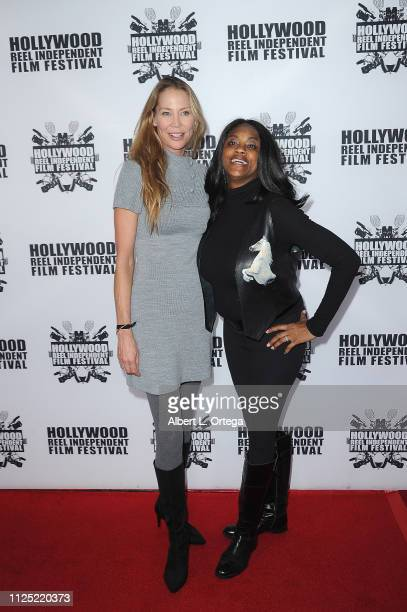 Kathleen Kinmont and Maryanne Fredericks arrive for The 2019 Hollywood Reel Independent Film Festival held at Regal LA Live Stadium 14 on February 15...