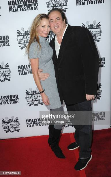 Kathleen Kinmont and Nick Vallelonga arrive for The 2019 Hollywood Reel Independent Film Festival held at Regal LA Live Stadium 14 on February 15...