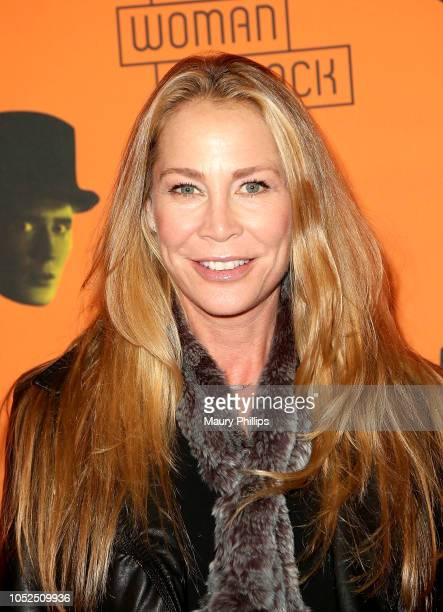 Kathleen Kinmont arrives at the Opening Night Performance of The Woman In Black at the Pasadena Playhouse on October 18 2018 in Pasadena California