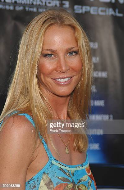 Kathleen Kinmont arriving at the World premiere of Terminator 3 Rise of the Machines